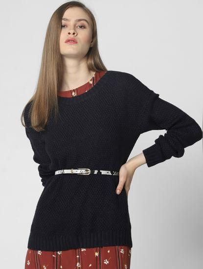 Brown Floral Print Belted Midi Dress