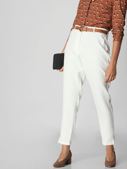 White Tailored Trousers