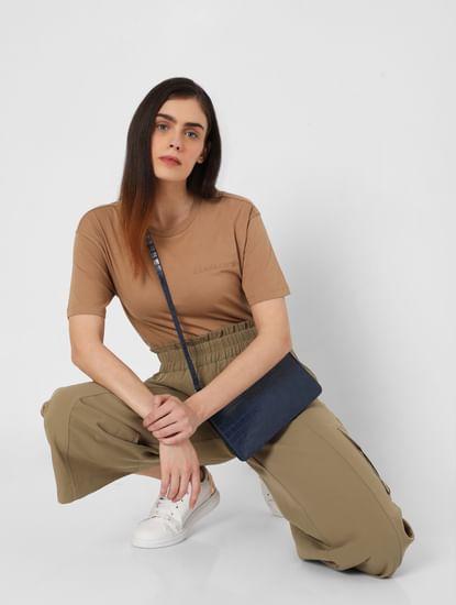 Brown Organic Cotton T-shirt