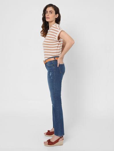 Beige Breton Striped T-shirt