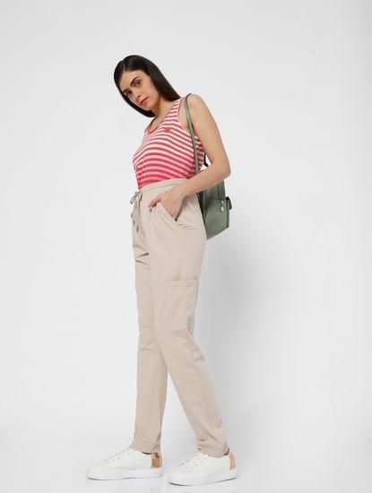 Grey High Rise Cargo Pocket Pants