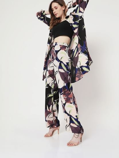Multi-coloured Floral Co-ord Pants