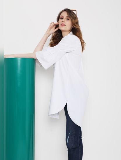 White Bell Sleeves Tunic Shirt