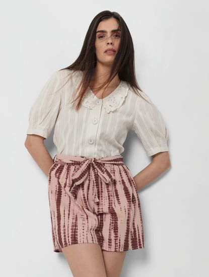 Pink Organic Cotton Tie Dye Shorts