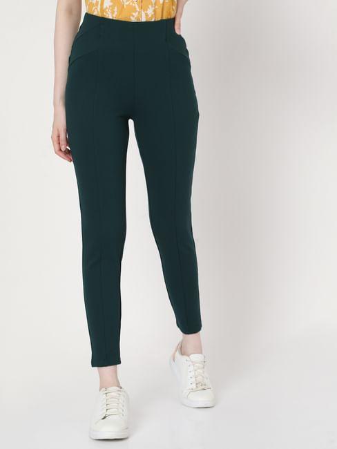 Green High Rise Leggings