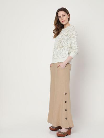 White Shimmer Pullover