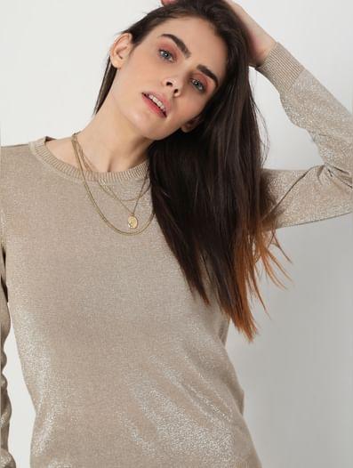 Beige Shimmer Sweater