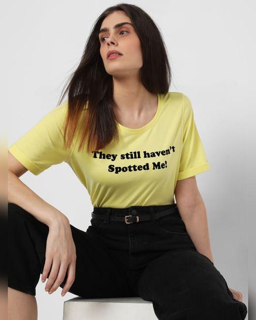 X Cruella Yellow Slogan Print T-Shirt
