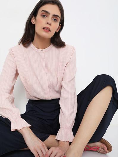Pink Crepe Top