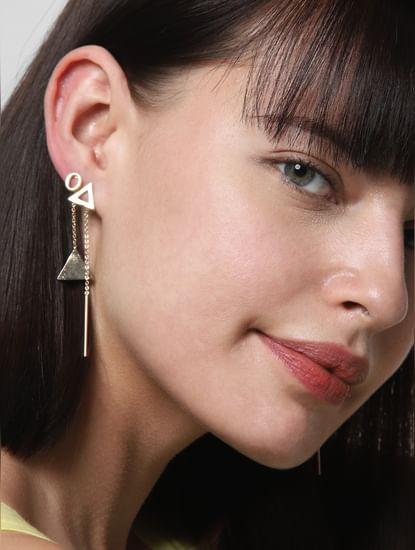 Golden Set of 5 Earrings