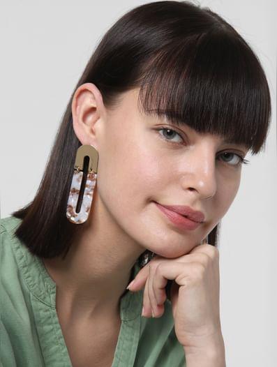 Golden Panel Earrings
