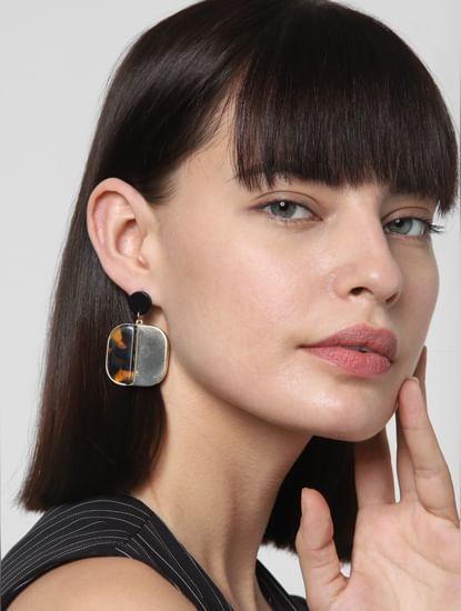 Golden Two Toned Earrings