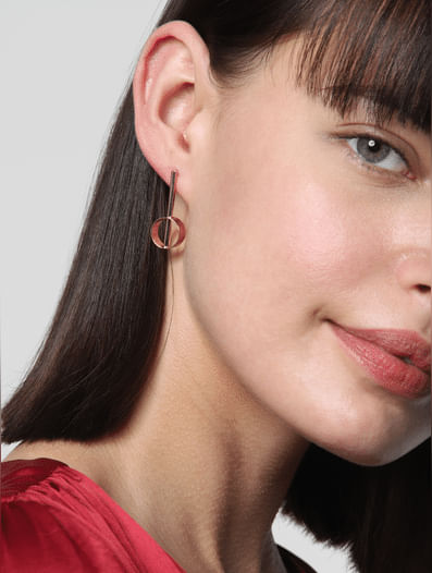 Rose Gold Set of 3 Earrings