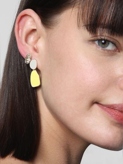 Golden Two Toned Set of 3 Earrings