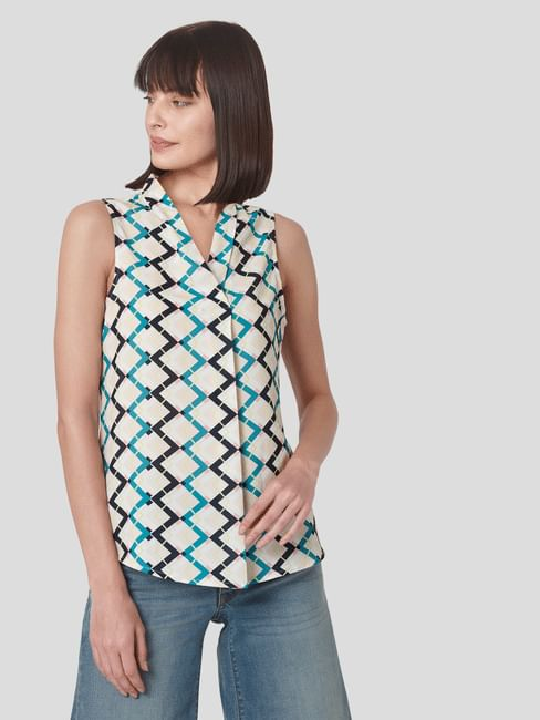 Multi-coloured Moroccan Print Top