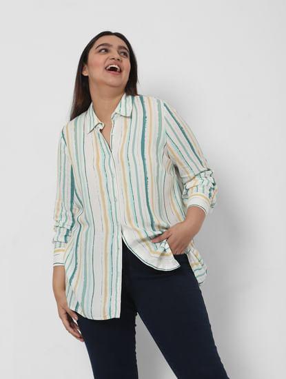 Multi-Coloured Striped Tunic Shirt