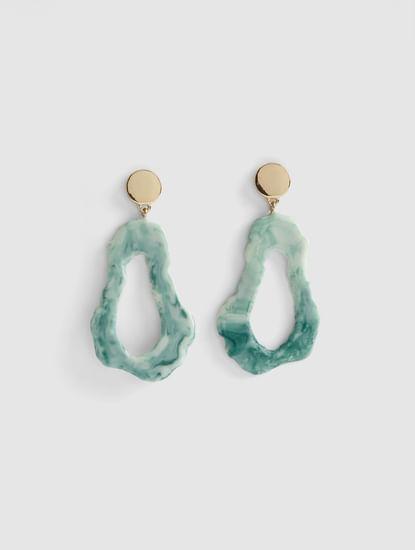 Blue Abstract Drop Earrings