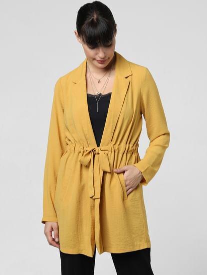 Mustard Cinched Waist Jacket