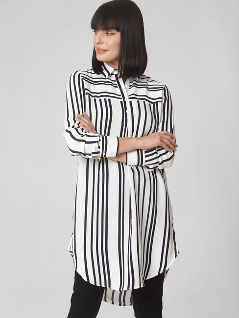 White Striped Tunic