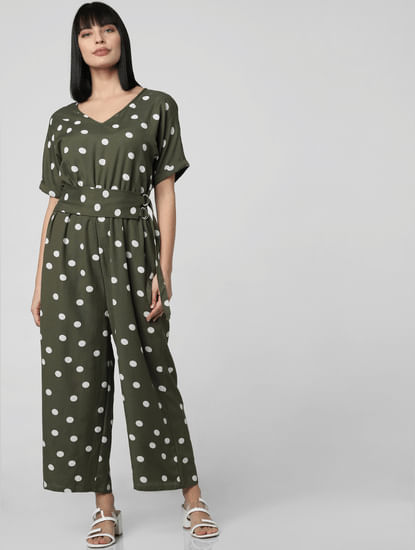 Green Polka Dot Jumpsuit