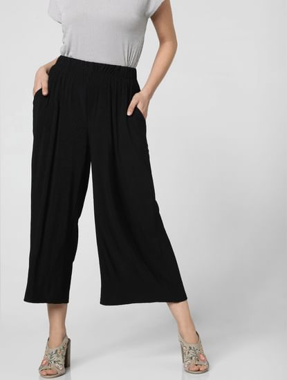 Black High Rise Culottes