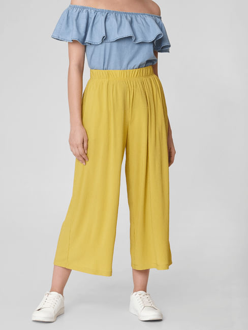 Yellow High Rise Culottes