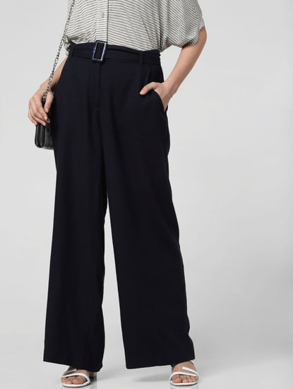 Navy Blue High Rise Pants