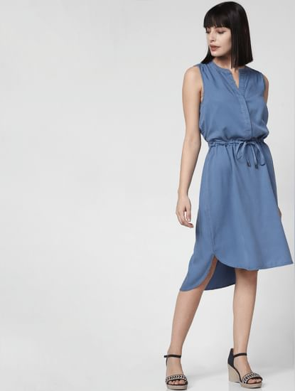 Blue Asymmetric Dress