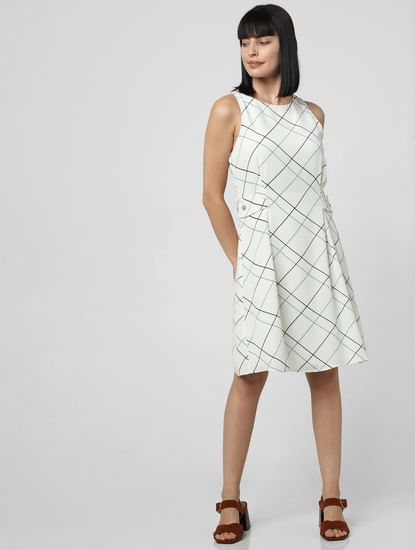 White All Over Print Shift Dress