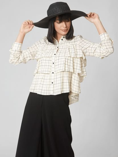 Off-White Check Tiered Shirt