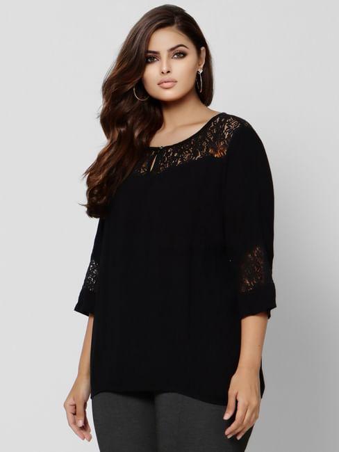 Black Lace Top