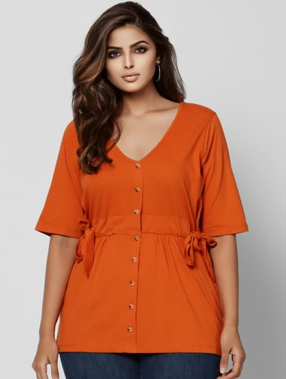 Orange Knot Top