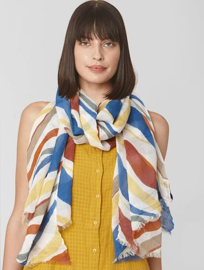 White All Over Print Scarf
