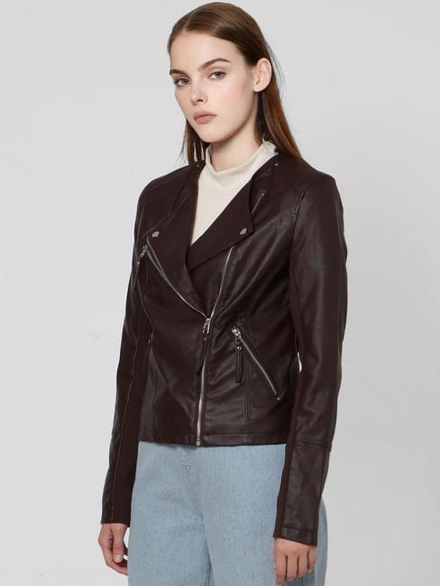 Chocolate Plum Biker Jacket