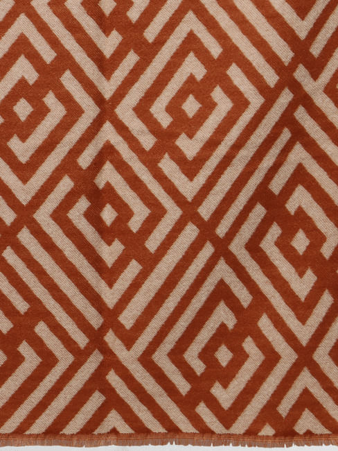 Brown All Over Print Scarf