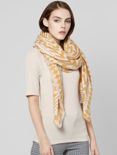 Yellow All Over Print Scarf