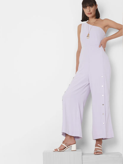 Lilac One Shoulder Jumpsuit