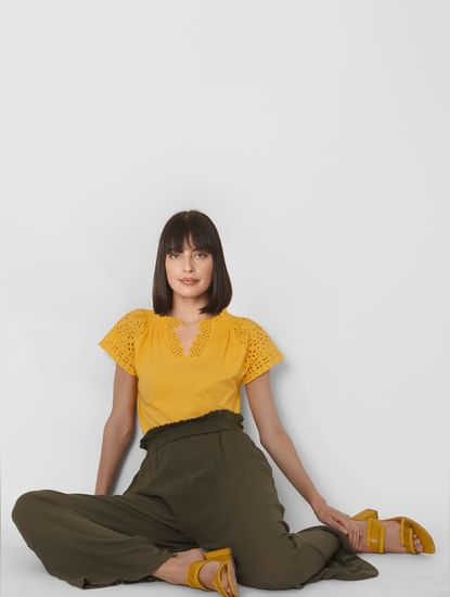 Yellow Cut Work Top