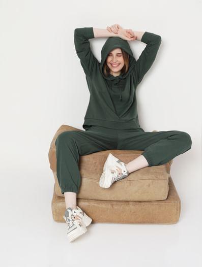 Green High Rise Sweatpants