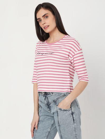 Pink Striped T-shirt