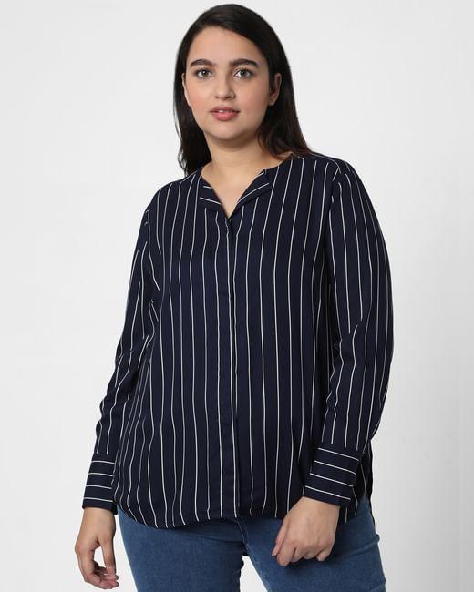 Blue Striped Top