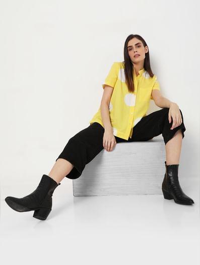 Yellow Printed Shirt