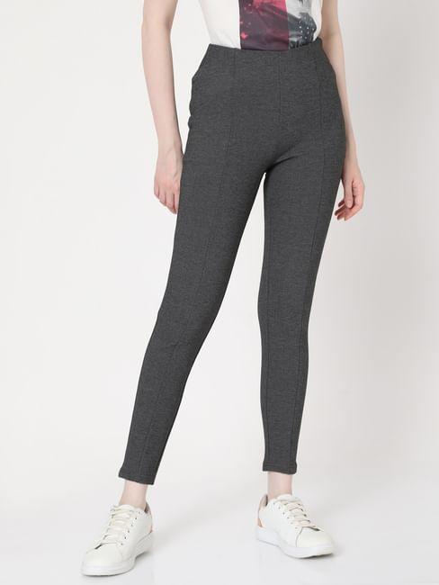 Grey High Rise Leggings