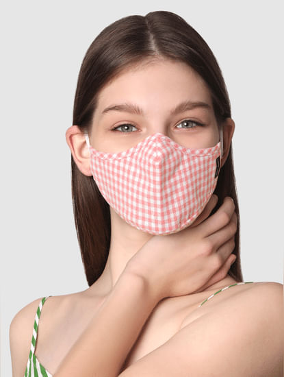 Pack of 2 3PLY Anti-Bacterial Mask - Striped & Check Print
