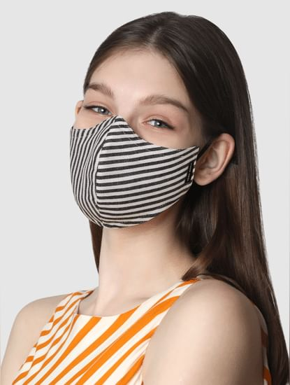 Pack of 2 Monochrome 3PLY Anti-Bacterial Mask