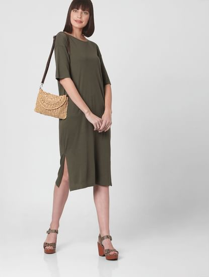 Green T-shirt Dress