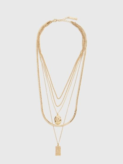Golden 5 Layered Necklace