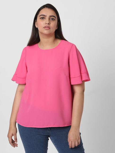 Pink Bell Sleeves Top