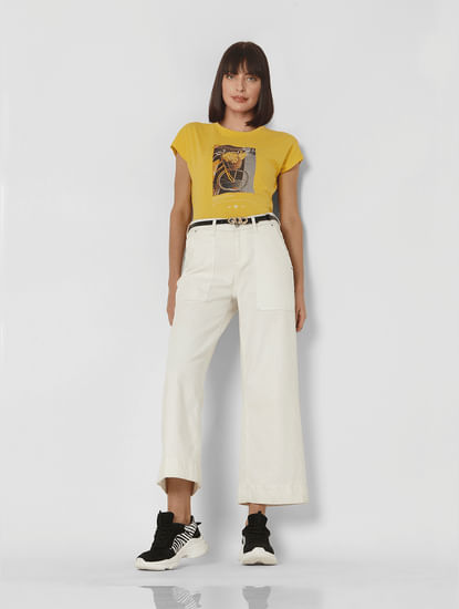 Yellow Graphic Print T-shirt