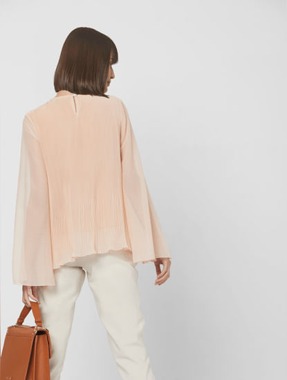 Light Pink Pleated Top